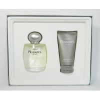 Lauder Pleasures for Men Cologne Spray 3.4 Oz and After Shave Balm 2.5 Oz Gift Set BY ESTEE LAUDER