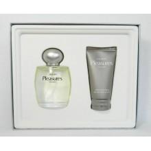 Lauder Pleasures for Men Cologne Spray 3.4 Oz and After Shave Balm 2.5 Oz Gift Set BY ESTEE LAUDER