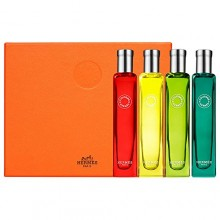 HERMES Colognes Collection Travel Set 4 x 0.5 FL.OZ. / 15 mL Factory Sealed in Plastic Retail Box